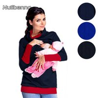 Wholesale Autumn Nursing Clothes - Mother and Baby Clothes for Mom and Kids Fashion Nursing Tops Long Sleeve Breastfeeding Autumn Pullover Family Matching Outfits
