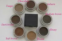 Wholesale Wholesale Chocolate Gifts - Original HOT Pomade Medium Brown Waterproof Makeup Eyebrow 4g Blonde Chocolate Dark Brown Ebony Auburn Medium Brown TALPE +gift