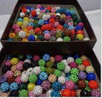 Wholesale Shambala Pave - 100pcs 10mm Crystal shambala Beads Pave Clay Disco Ball Beads for Shamballa Necklace Bracelet