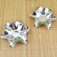 Wholesale Pig Tray - Star Stainless Steel Silver Sauce Plates Flavor Dishes Dinner Season Container Kitchen Dinnerware Snack Relish Tray Plate ZA3518
