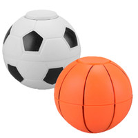 Wholesale Wholesale Kids Science Free Shipping - New ABS Hand football basketball spinner finger football leisure decompression toys with retail box free shipping