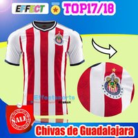 Wholesale Football Mexico - New 2017 MEXICO Club Chivas de Guadalajara Soccer Jersey 2018 Home Red Camiseta de Futbol 17 18 A.pulido 12 Champion Football Shirts