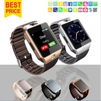Wholesale Wristband For Mobile Phone - Smart Watch DZ09 GT08 A1 wristband phone Smart phone SIM Intelligent mobile phone Android with Camera Pedometer record the sleep state