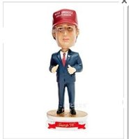 Wholesale Statues For Home - President Donald John Trump Toy Resin Crafts Doll Shaking Statue Celebrity Action Figures For Home Accessories Furnishing Articles 29 8ak