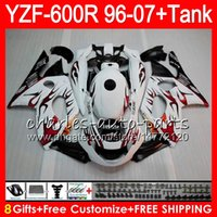 Wholesale Yamaha Yzf Thundercat Fairing - 8Gift 23Color For YAMAHA Thundercat YZF600R 96 97 98 99 00 01 53HM7 red flames YZF 600R YZF-600R 1996 1997 1998 1999 2000 2001 Fairing kit