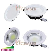 Super Bright LED COB Plafonniers Dimmable 10W 15W 20W 25W 30W Encastré LED Plafonnier Downlights
