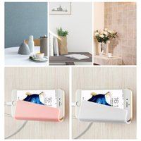 Wholesale Mobile Phone Holder Hang Wall - 2017 Creative Home Mobile Phone Wall Charger Adapter Charging Holder Hanging Stand Bracket Support Charge Hanger Rack