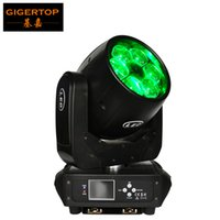 Gigertop TP-L672 Novo design 6x40W Mini Bee Eye Led Moving Head Beam Light Display LED 10/17 Canais Ganchos de montagem dupla + lente de zoom