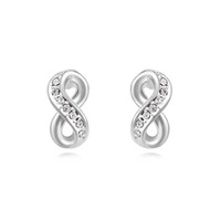 Wholesale Earring Infinity - top quality famous brands jewelry wholesale for women infinity stud earrings made with Swarovski elements crystal best Mother's Day gift