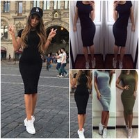 Wholesale Womens Plain Bodycon Pencil Cocktail Evening Ladies Summer Party Dress Beachwear bandage dress bodycon homecoming dresses