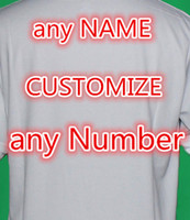 Wholesale customize name and number on jersey not sell single pc only with jerseys