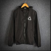 Wholesale New Hot Palace Jacket Windproof Sunscreen Windbreaker Men Print Palace Letters Triangle Kanye West Suprem Jacket