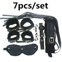 Wholesale sex toys clamps for sale - Group buy Adult Game pieces Kit Leather Fetish Sex Bondage Restraint Handcuff Gag Queen Constume Nipple Clamps Whip Sex Toy For Couples
