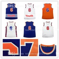Wholesale Sleeveless Number - Men's 6 Kristaps Porzingis Basketball Jersey Adult 100% Stitched Kristaps Porzingis Sportswear Jerseys Youth Kid's ALL HAVE Name and number
