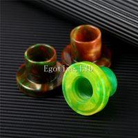Wholesale Exo Caps - Epoxy Resin Cleito EXO Drip Cap for Cleito EXO Tank Mouthpieces Drip Tips Colorful Resin Holder Cover E Cigarette VS Cleito 120 tips