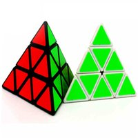 Wholesale Triangle Puzzle Cubes - Hot Triangle Pyramid Pyraminx Magic Cube Puzzle Speed Magic Cubes Kids Children Educational Toy Special Toys Nice Gift