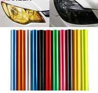 ingrosso coperture del faro-30 cm x 100 cm Auto Auto Tint Faro Fanale Posteriore Fendinebbia Vinile Foglio di Fumo Adesivo Copertura 12 pollici x 40 pollici Car styling