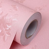 Wholesale PVC self adhesive wallpaper waterproof and moisture proof hotel KTV decorative special earth golden classical pattern pink
