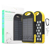 Without Logo p charger - 8000 mAh Shockproof Solar Charger Bank mAh Build in LED Solar Panels mAh Dustproof Solar Chargers For GPS Bluetooth with Retail P