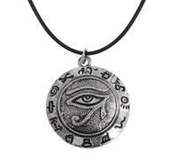 Wholesale Evil Eye Amulets - evil eye pendant necklace supernatural talisman amulet for man New arrival Viking tunes wicca jewelry free shipping