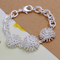 Wholesale Sterling Silver Fireworks Charm - Brand new Fireworks bracelet 925 silver charm bracelet 20x2.0cm DFMWB014, High quality women sterling silver plated jewelry bracelet