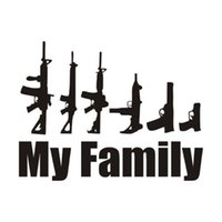 Wholesale funny family car stickers for sale - Group buy 10 cm My Family Cartoon Gun Car Stickers Funny Window Laptop Car Styling Motorcycle Decals Accessories Sticker Bombing Sticker
