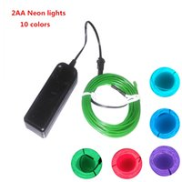 Lights & Lighting 1pcs 3m 10 Colors El Wire Tube Rope Battery Powered Flexible Neon Light Car Party Wedding Decoration With Controller Wholesale Profit Small