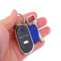 Wholesale Boys Plastic Wallet - LED Key Finder Locator Find Lost Keys Mobile Wallet Chain Mobile finder Purse Finder Keychain Whistle Sound Control