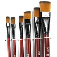 Wholesale Hot Pack of Art Brown Nylon Paint Brushes for Acrylic