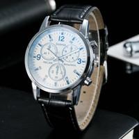 Wholesale New Korean Fashion Trend - 2017 New Couple Korean Fashion Trend Blue Light Symphony Glass Table Leather Belt Waterproof Watch Wrist Watch