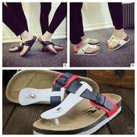 Wholesale Shoe Sandles - Unisex Summer Sandles Fashion Slippers Beach Shoes Beach Flip-flops PU Leather Slippers Zapatos Mujer Casual Cool Slippers CCA5745 12pair