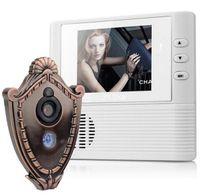 espectadores de la puerta de seguridad al por mayor-2.8 pulgadas Lcd digital puerta cámara timbre mirilla puerta visor ojo cámara de seguridad de la casa campana de la puerta campana 3X Zoom