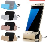 Wholesale Iphone Cradle Stand Charger - Charger Docking Stand Station Cradle Charging Sync Dock With Retail Box For iPhone 6 7 Plus 5S TYPE C For Samsung S6 S7 edge Note 5