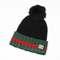 Wholesale Wholesale Flat Top Caps - Hot winter Fashion unisex knitted hat casual sports cap keep warm ski G Bonnet top quality classical skull caps wholesale CM085
