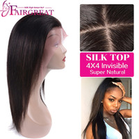 Wholesale Human Hair Straight Lace Wig - Brazilian Straight Hair Silk Base Lace Front Wigs Adjustable Pre Plucked 360 Full Lace Human Hair Wigs Glueless Wigs Black Women New Style