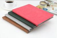 almofadas de maçãs ipad venda por atacado-4 cores do livro pad estilo pad para ipad mini 2 3 4 ultra fino fino couro artificial suporte case 9.7 polegadas ipad pro air 2 tampas dobráveis hot