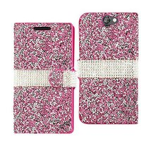 Leather bling pouches case - K20 Plus K10 K4 Stylo Hybrid Bling Glitter Rhinestone Diamond Wallet Cover Case Card Holder for LG Aristo LV3 MS210 MetroPCS