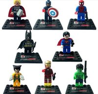 Wholesale best selling Super Heroes The Avengers Iron Man Hulk Wolverine Thor Building Blocks Sets DIY Bricks Toys with package box set