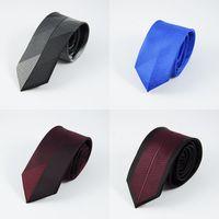 Wholesale Men Striped Neckties - GUSLESON New Mens Ties Custom Brand Man Dot Striped Neckties Hombre 6 cm Gravata Slim Tie Classic Business Casual Tie For Men