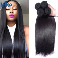 Wholesale Chinese Factory Extension - MikeHAIR Cheap Brazilian Hair 4 Bundles Straight Human Hair Weave Factory Wholesale Peruvian Indian Malaysian Remy Human Hair Extensions