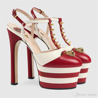 Wholesale Heels Stiletto New Sexy - 2017 European New Designer High Heel Shoes 16cm Sexy Nightclub Chic Shoes Women Fashion Brand Pumps Free Shipping G076