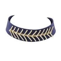 Wholesale Elegant Chunky Necklaces - Elegant Rhinestone Velvet Big Chunky Choker Collar Necklaces