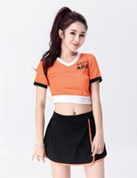 Wholesale Glee Dress - Wholesale-Excited Fashion Style Glee Cheerleading Uniforms Sexy Dress Uniform Adult Girls Sport Cheerleader Costume From China