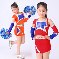 Wholesale Cheerleader Uniform Sets - New Competition Cheerleaders Girl School Cheer Team Uniforms Kids Adult Performance Costume Sets Girls Class Suit Girl Rooter Suits Outfits