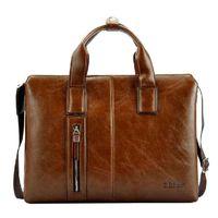 Wholesale Zefer Laptop Bags - Wholesale-ZEFER genuine leather bag male portfolio,brand desinger bags men business tote handbag shoulder laptop bags luggage AZ074