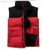 Wholesale Red Down Vest - Fall-2017 new Brand double face High Quality Men's Down Vest Down Jacket & Outerwear Coat thick winter sportswear