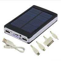 Wholesale Solar Charging Mobile Phones - Hot sale Solar Charger Power Bank 12000MAH Portable Charging Powerbank External Battery Chargers For iPhone Mobile phones
