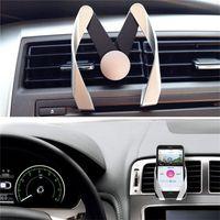 форма автомобиля iphone оптовых-Универсальный M форма мобильный телефон автомобильный держатель регулируемая M модель вентиляционное отверстие крепление телефона кронштейн Подставка держатель для iphone 7 Samsung Huawei HTC Sony