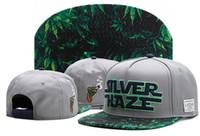 şapka giysileri toptan satış-Cayler Sons SLVER HAZE yeşil yaprak duman bahar rahat beyzbol kapaklar moda erkekler kadınlar için snapback şapkalar casquette kemik pamuk şapka ...