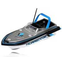 ingrosso telecomando barca ad alta velocità-Commercio all'ingrosso- Barca artificiale Nuovo blu radiocomandato Super Mini velocità barca Dual Motor Kid Toy 218 di alta qualità